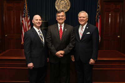 Frank Berry, Johnny Grant, and Governor Nathan Deal